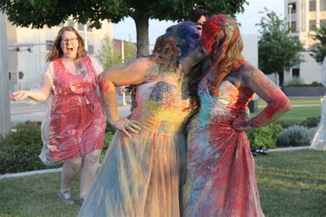 LGBTQ, Lesbian, Wedding, Holi, Powder, Same Love, OKC