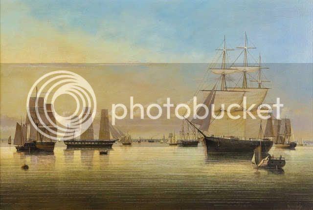 clipper ships in Boston Harbor
