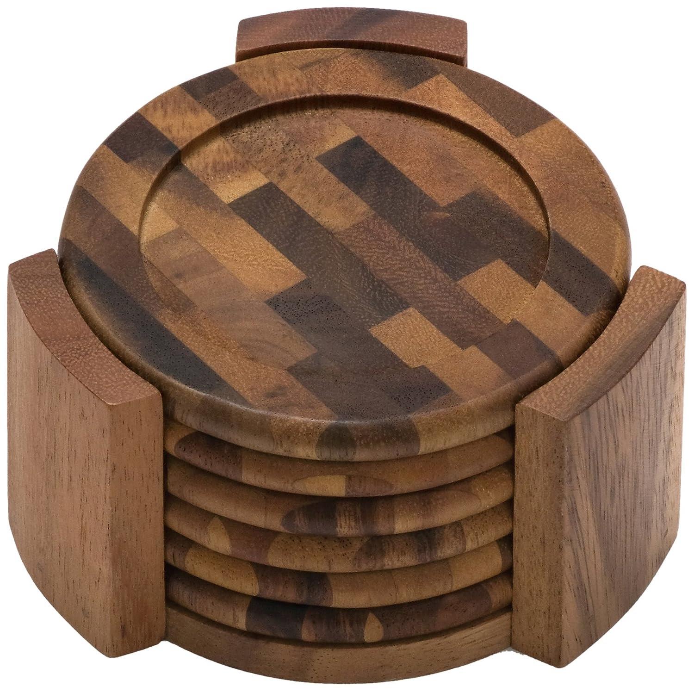 Amazon.com: Wood - Coasters / Bar Tools & Glasses: Home & Kitchen