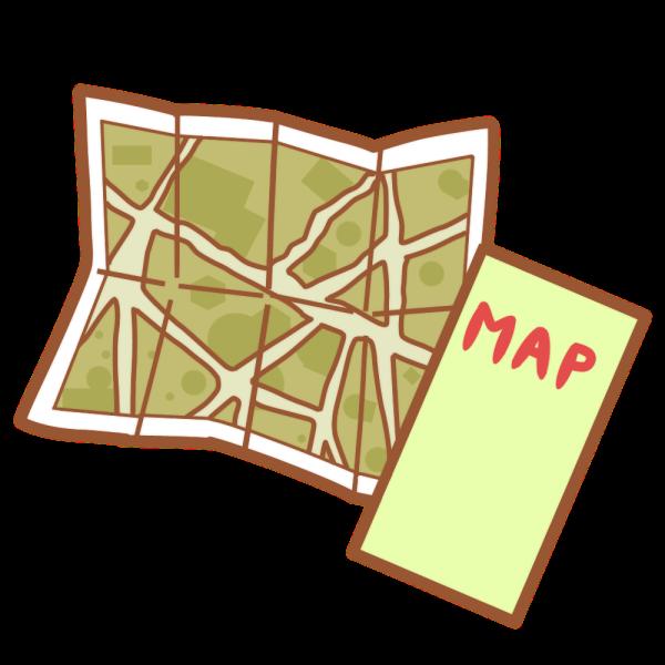 地図のイラスト かわいいフリー素材が無料のイラストレイン