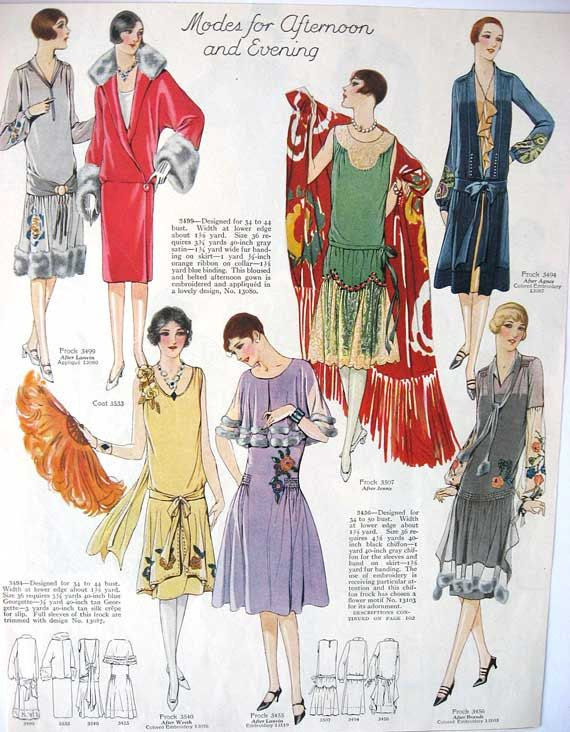 Vintage 1920's Womens Fashions Illustration, Print for Framing, Scrapbooking. $9.95, via Etsy.