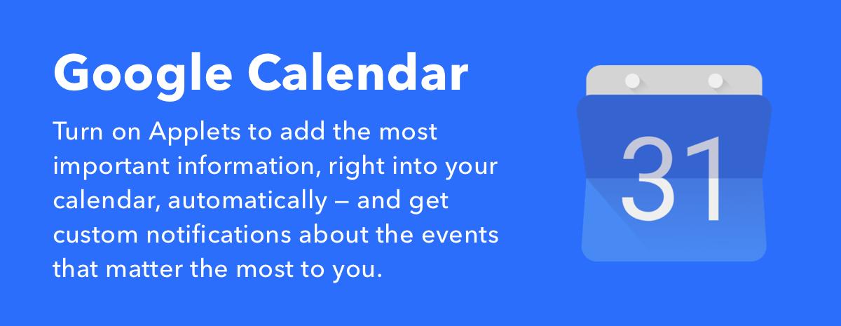 Google Calendar Applets
