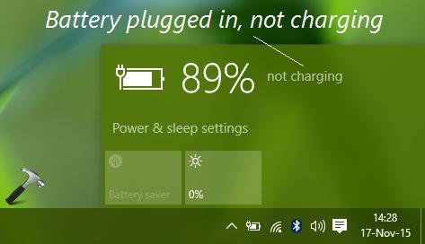 Win 10 Laptop Not Charging