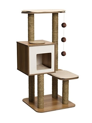 Cool cat tree plans cat furniture for Cat climber plans