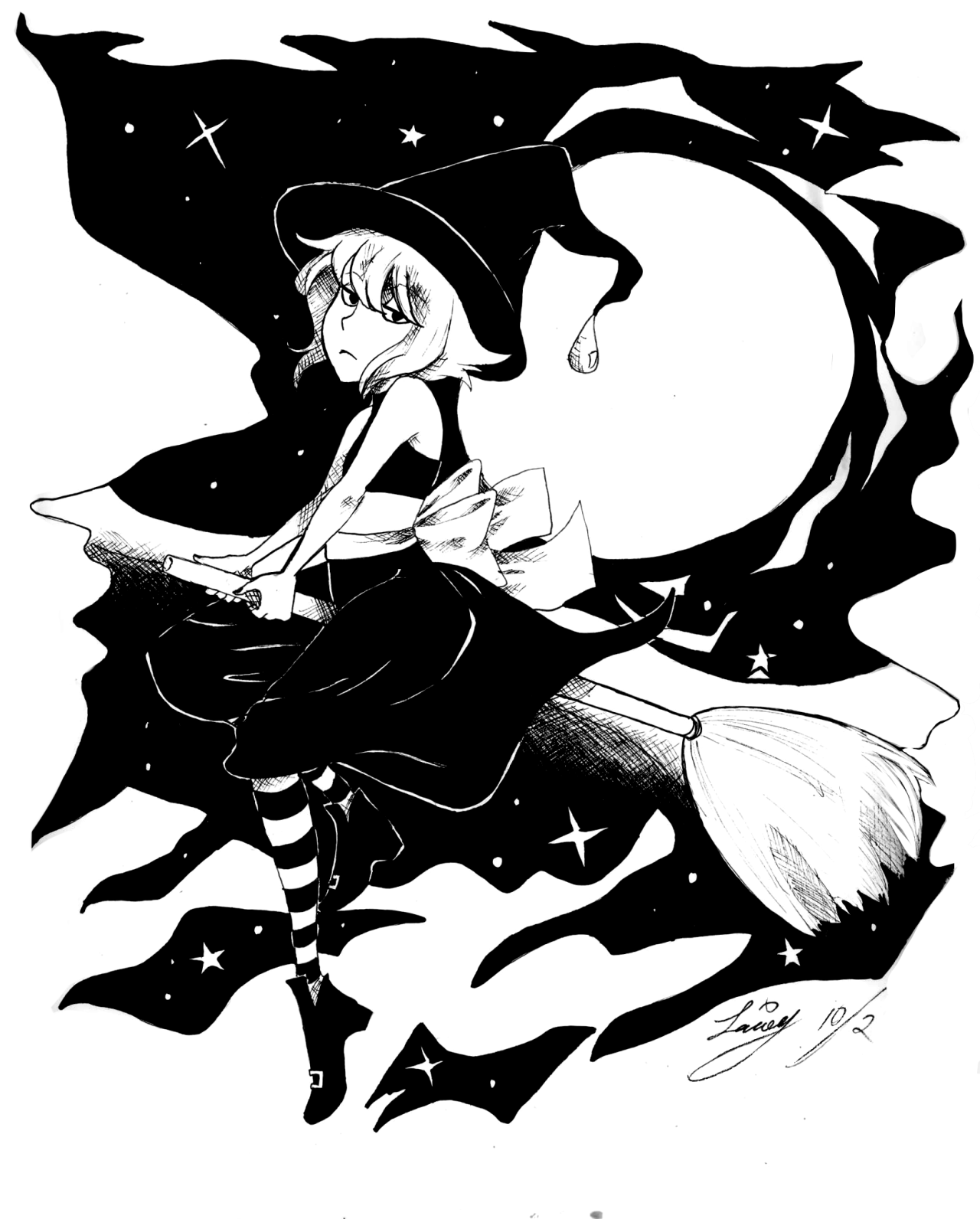 Inktober: Day 2I missed day one of inktober, so here's a witchy lappy for day 2.