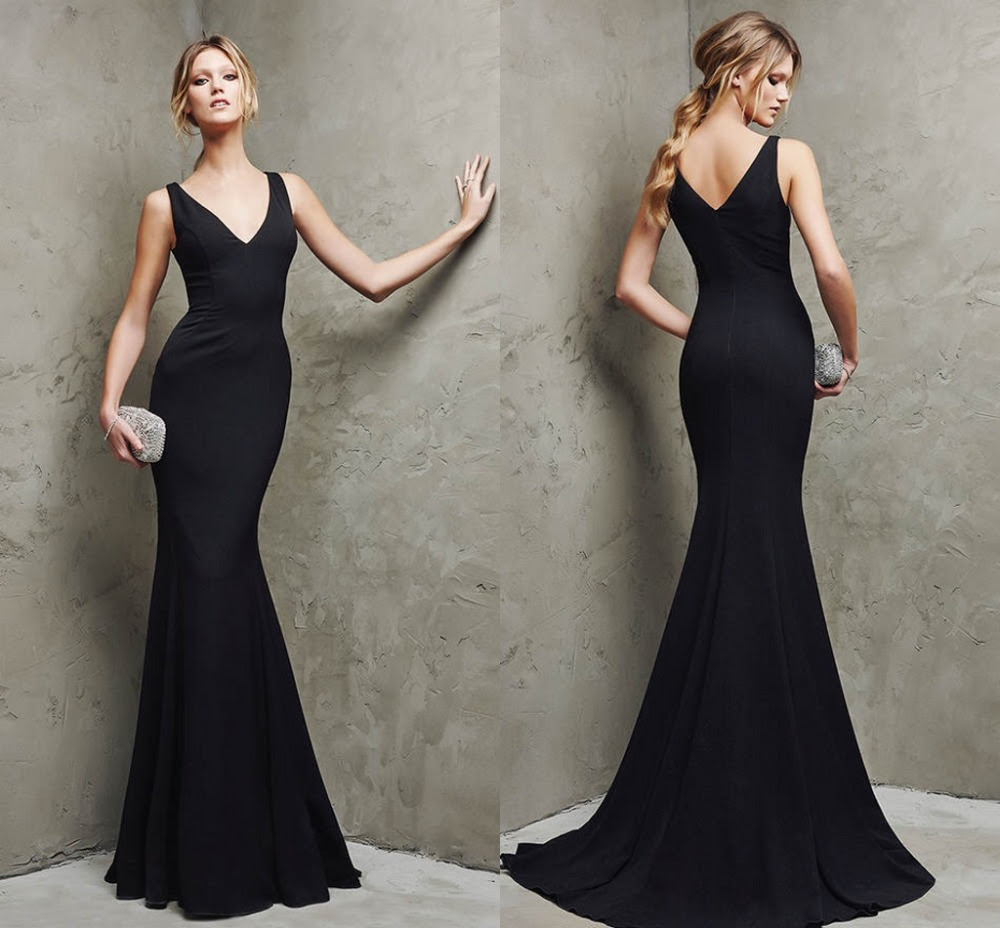 Simple formal evening dress