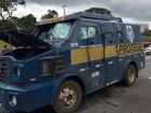 Criminosos explodem carro-forte em Atibaia (Arquivo pessoal)