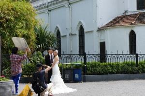 結婚式用写真の撮影