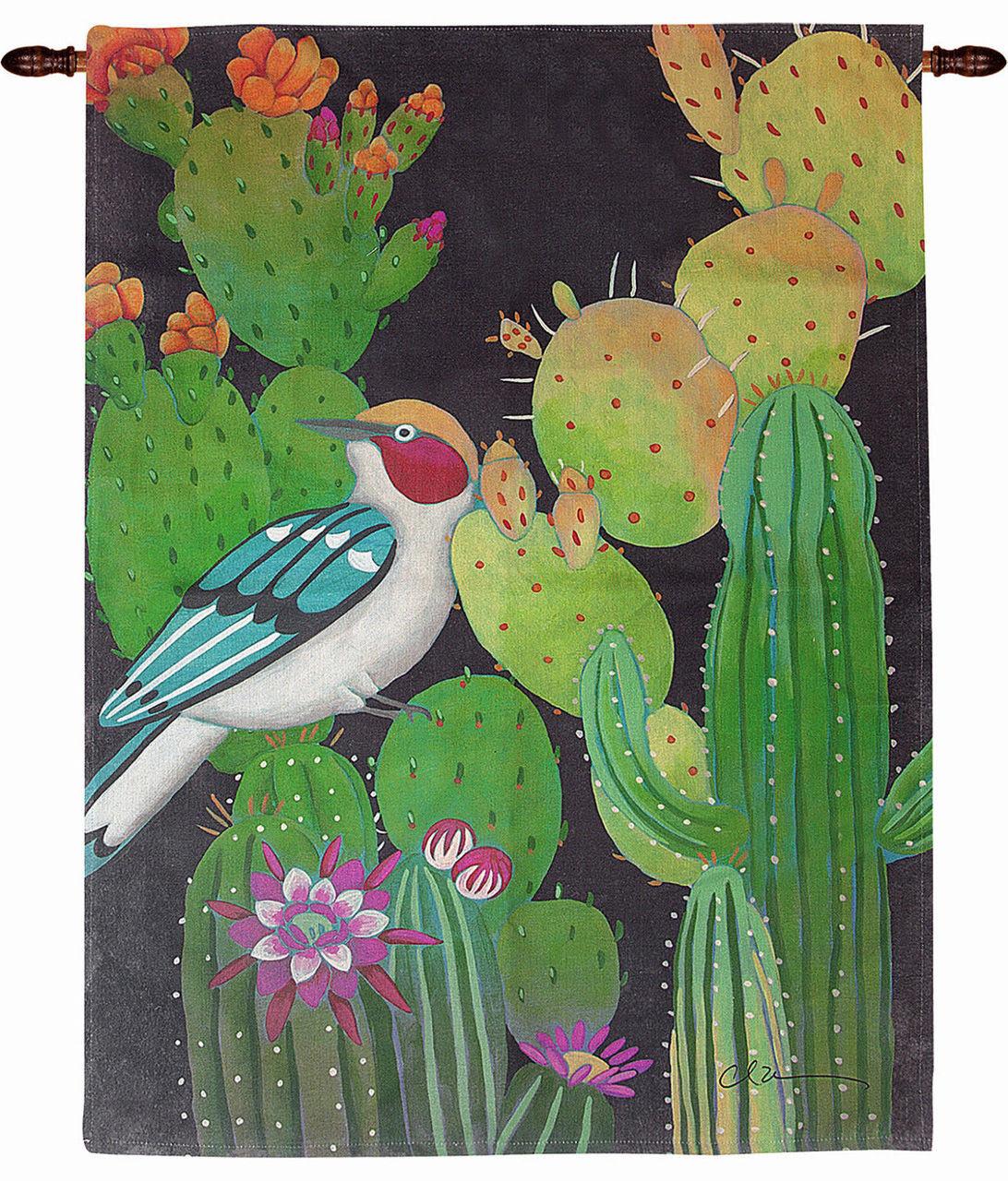 Wall Art Desert Song Bird Cactus Wall Hanging Wall Decor