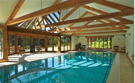 patio indoor pool  rustic setting   pool