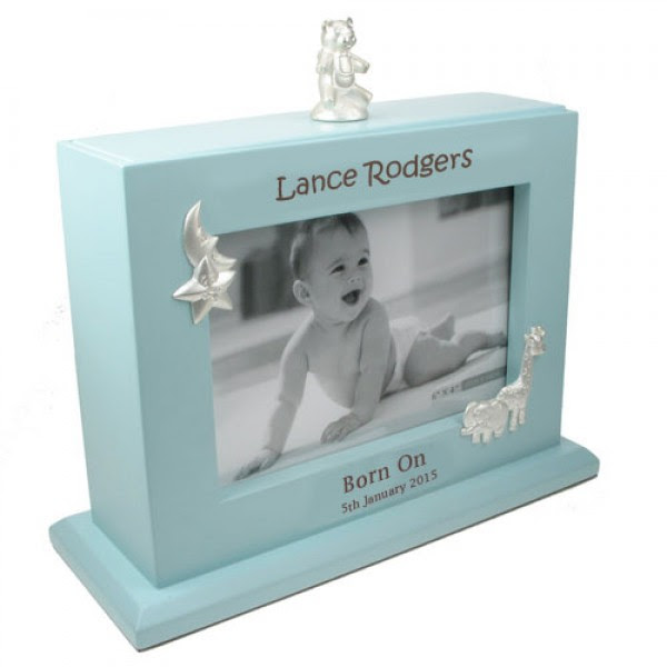 Personalised Baby Boy Photoframe And Album Laser Engraved The Tot