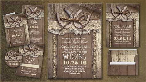 read more ? RUSTIC COUNTRY WEDDING INVITES WITH HORSESHOE
