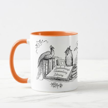 Library Teacher Gift! Librarain or Library Assist Mug