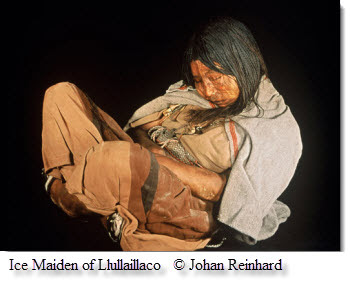 Ice Maiden of Llullaillaco discovered by Johan Reinhard