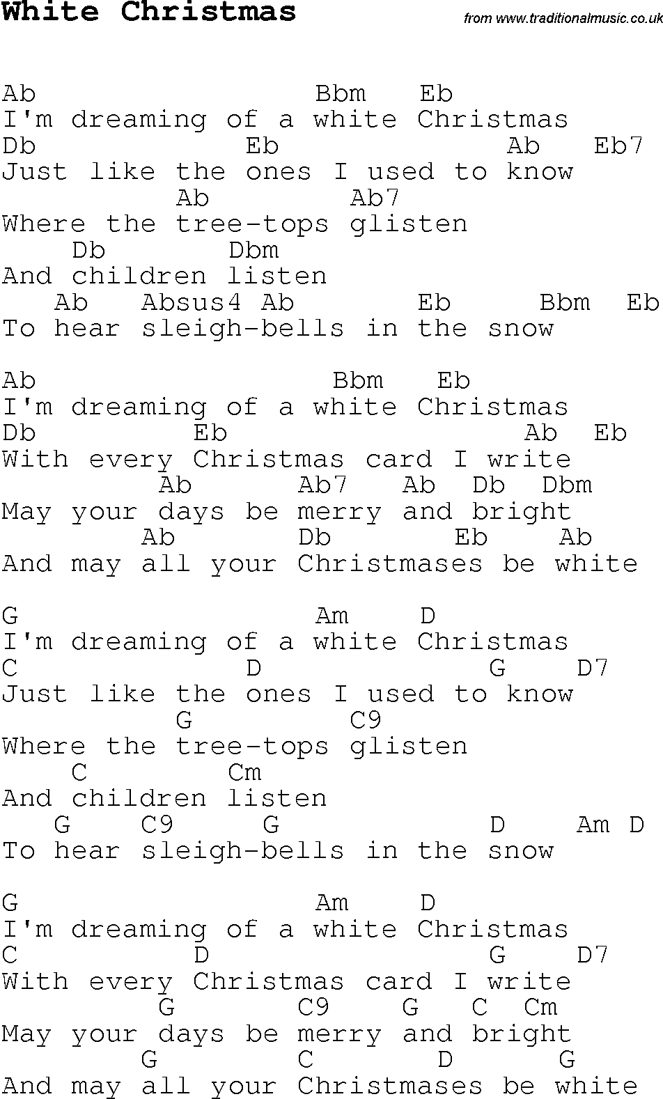 White christmas chords 2015confession white christmas chords hexwebz Choice Image