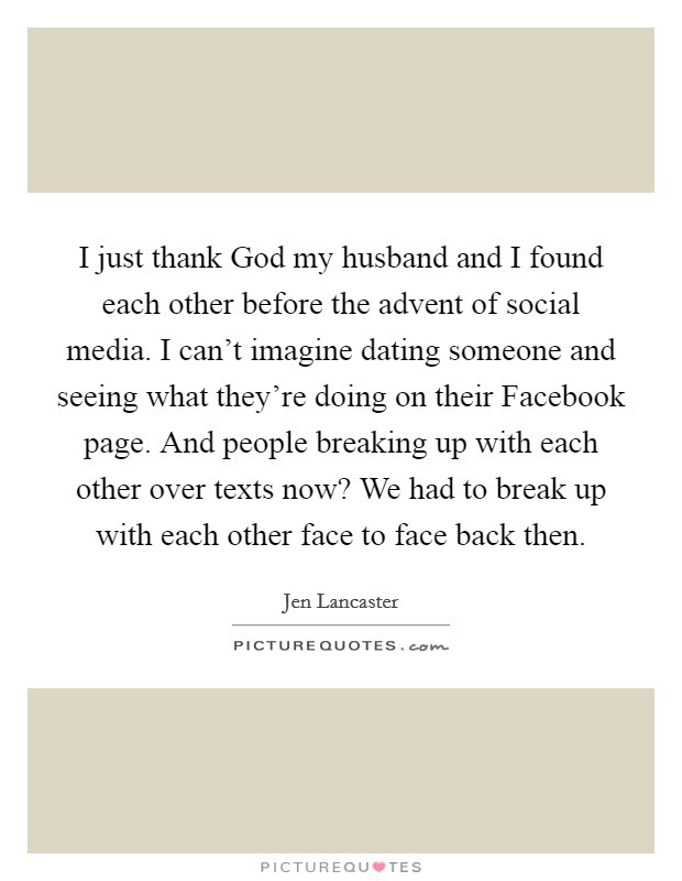I Just Thank God My Husband And I Found Each Other Before The