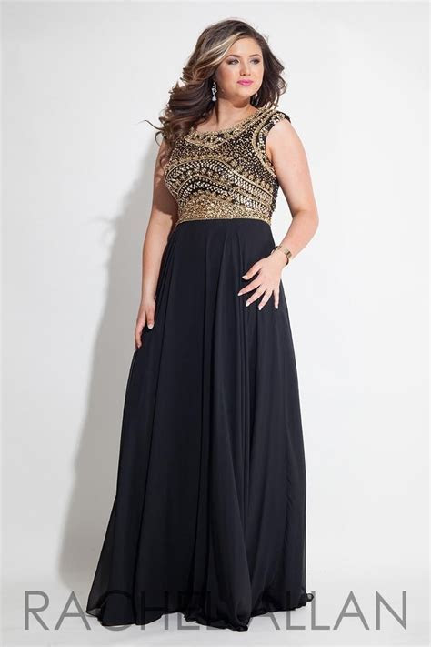 Prom Dresses Evening Plus Size Black Gowns Gold Beaded