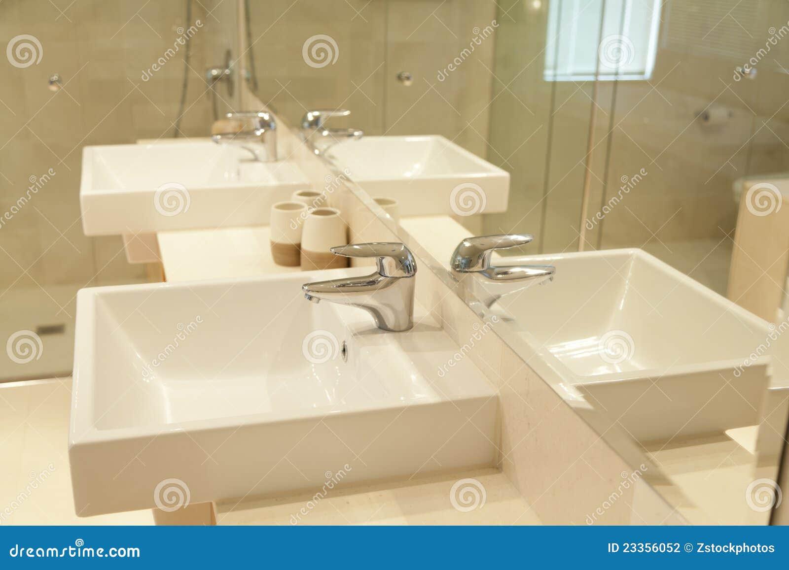 Twin Bathroom Sinks Stock Photography - Image: 23356052