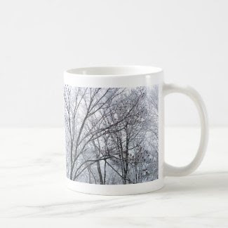 Snow-covered Oak Tree Mugs