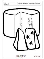 Peynir Boyama Sayfaları