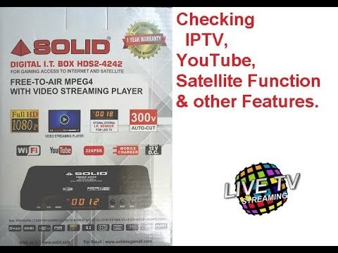 SOLID HDS2-4242 DVB-S2 Full HD Box Launched with Online Streaming and YouTube