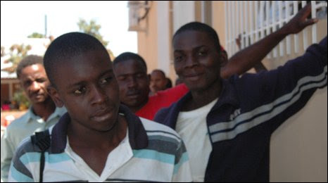 Asylum seekers at a centre in Musina, Limpopo