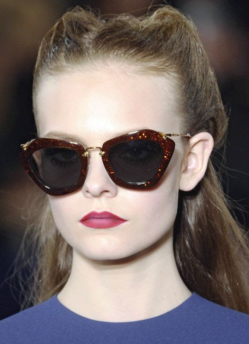 17ae636e3af poisepolish.  Miu Miu Fall 2011  Noir sunglasses