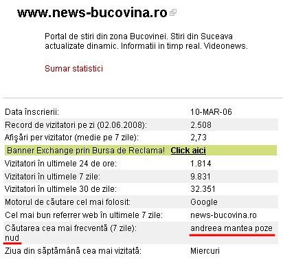 Mihai Chira, NewsBucovina.ro - trafic dublat prin SPAM