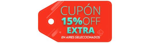 CUPÓN 15% OFF EXTRA EN AIRES SELECCIONADOS