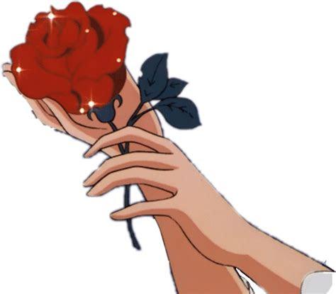 aesthetic tumblr grunge animeaesthetic anime rose redro