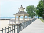 Bij Ontario Beach in Rochester