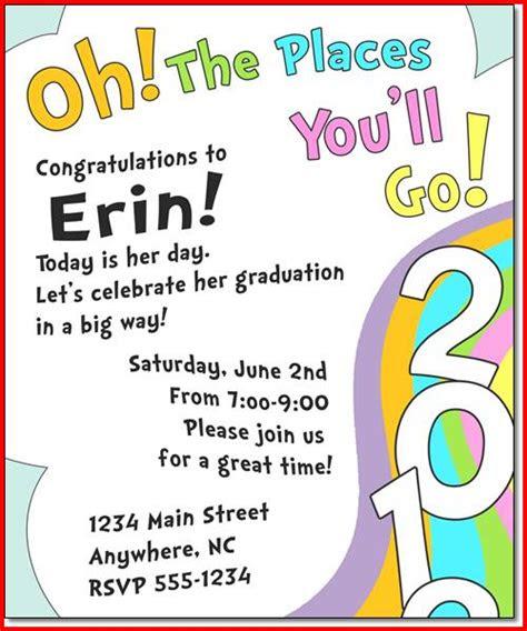 Dr Seuss Quotes Kindergarten Graduation
