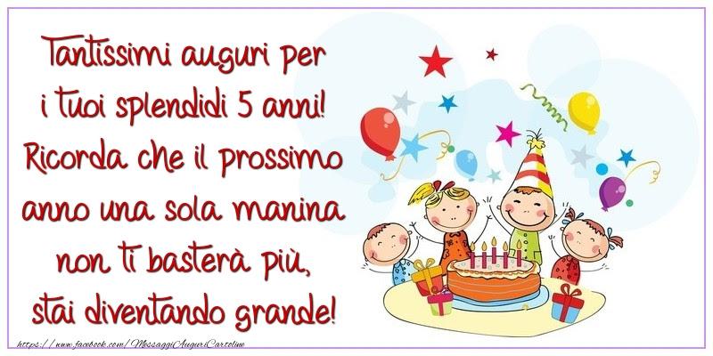 Auguri Buon Compleanno 5 Anni.Auguri Di Compleanno Bambina 5 Anni