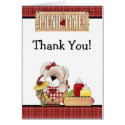 Cute Puppy Dog Picnic Time Thank You Card