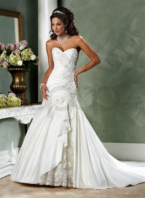 Cheap Strapless Wedding Dresses   Dresscab