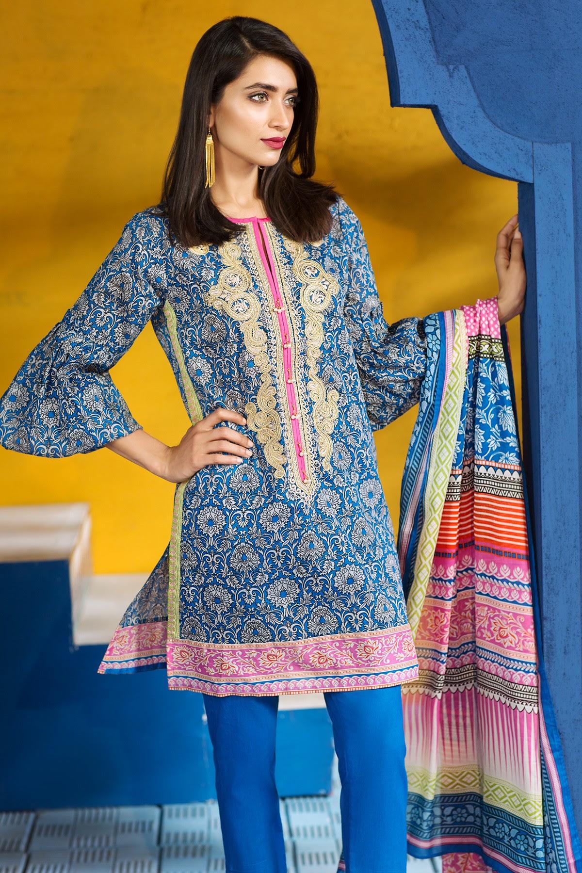 khaadi lawn chiffon eid dresses designs collection 20172018