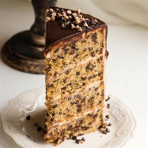 Cinnamon Chocolate Chip Cake with Brown Sugar Cream Cheese