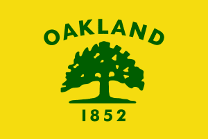 Flag of Oakland, California. Image created by ...