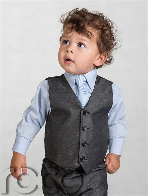 boys grey waistcoat suit baby boys charcoal suits boys