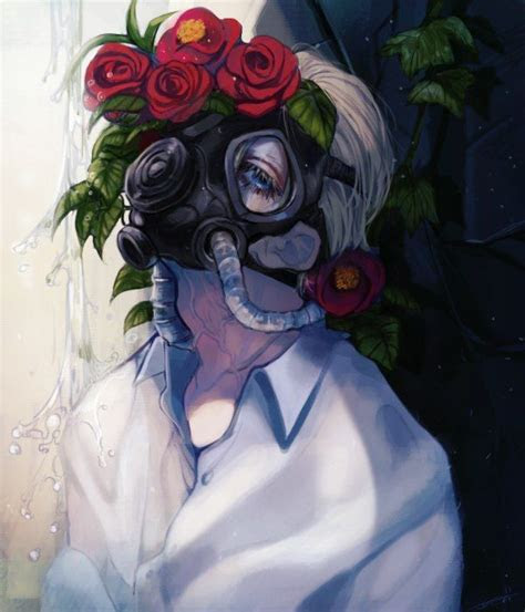 gas mask anime art anime art gas mask art manga art