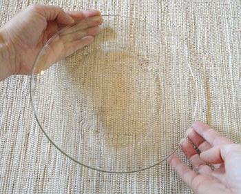 Prepare seu prato de vidro transparente