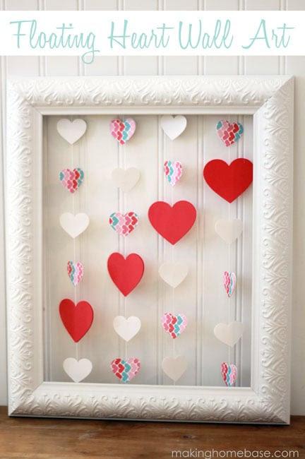 heart wall art making home base
