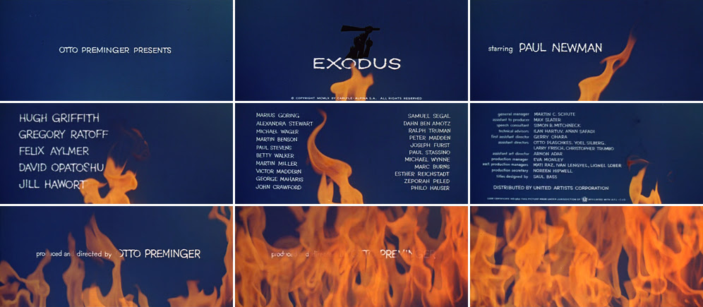 Saul Bass Exodus 1960 title sequence