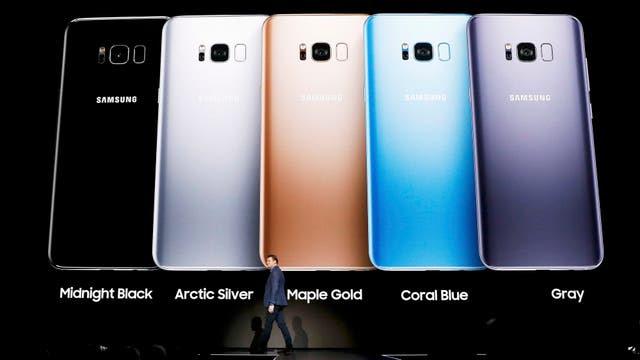 De los cinco colores disponibles, en el país el S8 se venderá en negro, gris y plateado