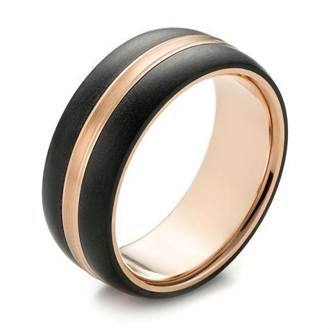 Custom Two Tone Men's Wedding Band #103842   Seattle