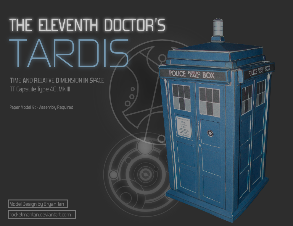The Eleventh Doctor's TARDIS Papercraft