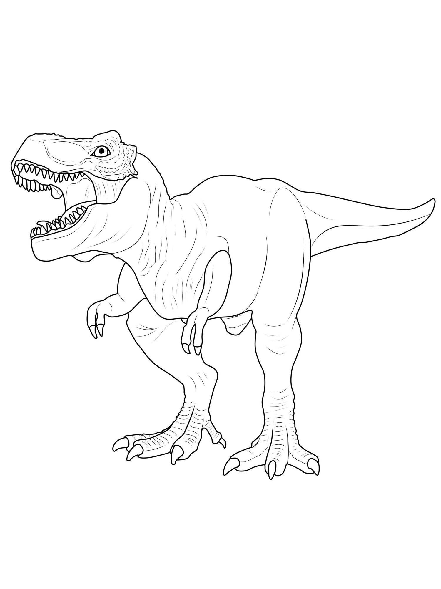 Ausmalbild Dinosaurier und Steinzeit Dinosaurier ausmalen Tyrannosaurus Rex kostenlos ausdrucken