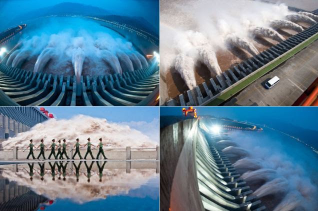 The Three Gorges Dam, a gigantic hydropower project on the Yangtze river, in Yichang, central China's Hubei province