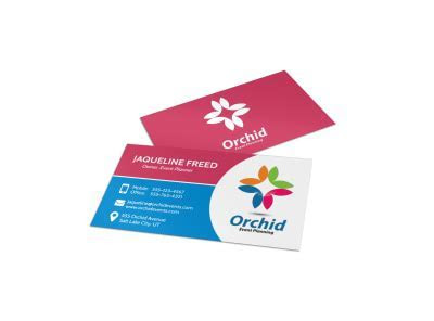 Parties & Weddings Business Card Templates   MyCreativeShop