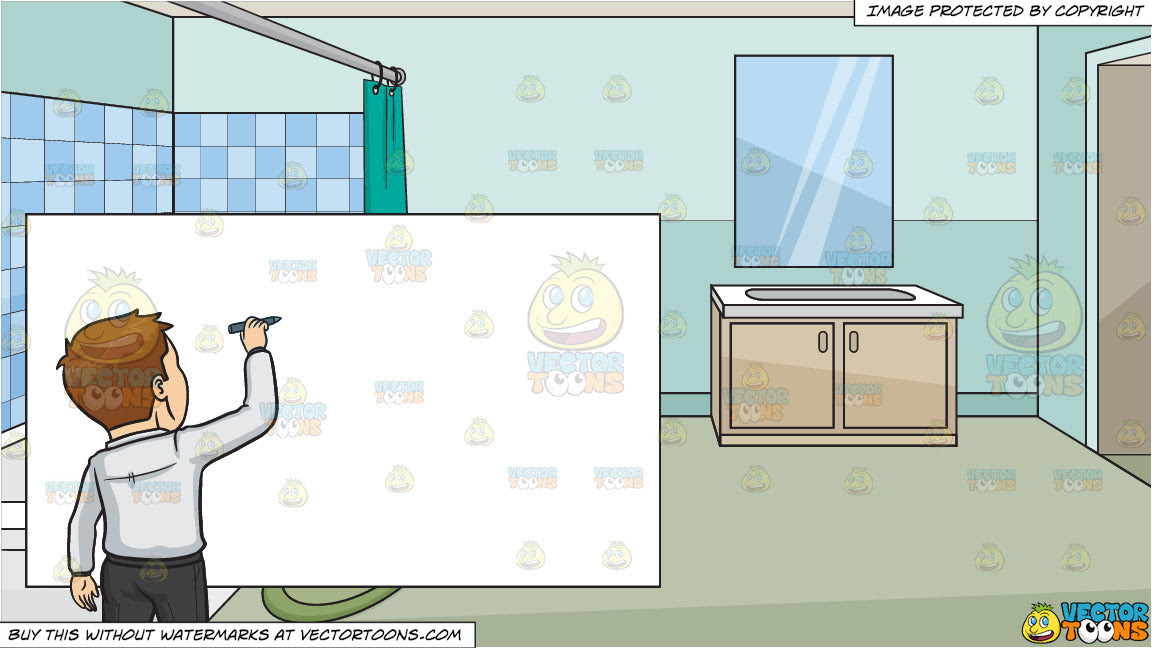Back To The Drawing Board And A House Bathroom Background